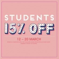Cath Kidston Singapore: School Holiday Promotion for Students --- 15% off all regular priced items!