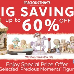 Precious Thots: Up to 60% OFF Precious Moments figurines + Additional 10% OFF for Members