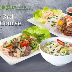 Wraps & Rolls: Main Course Promotion --- Every 3rd Main Course FREE
