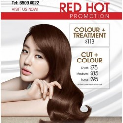 Crème Hairdressing: RED HOT Promotion @ City Square Mall salon only