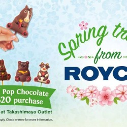 Royce': Free Pop Chocolate with every $20 purchase