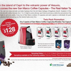 Bon Caf: San Marco Promotion @ Artista today!