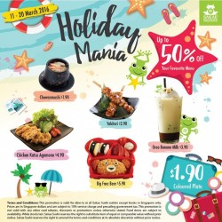 Sakae Sushi: March School Holiday Special Promotion -- up to 50% off