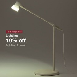 MUJI Singapore: Anniversary Promotion --- 10% OFF Organic Washed Cotton Bedlinen, home lighting, stacking shelves and more!