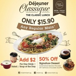 Miam Miam French.Japanese Cafe.Kitchen: Classic Lunch Set Promotion