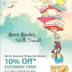 Kinokuniya Singapore: Have Books, Will Travel promotion --- 20% off storewide for Kinokuniya Privilege Card members