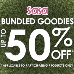 Sasa: Up to 50% OFF Bundled Goodies