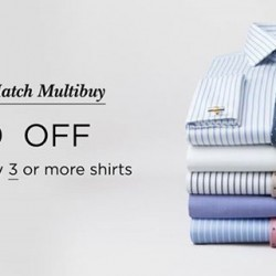 T. M. Lewin: Mix and Match Multibuy -- S$150 OFF when you buy 3 or more shirts