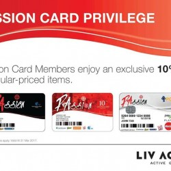LIV ACTIV: PAssion Card Member Exclusive Deal --- 10% OFF Regular Priced Items
