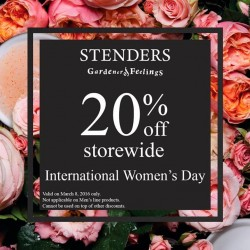 STENDERS: International Women's Day Special --- 20% OFF Storewide