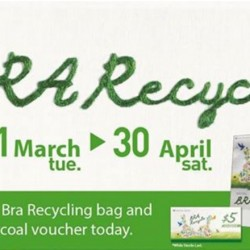 Wacoal: Recycling Old Bras and Receive a S$5 Wacoal voucher