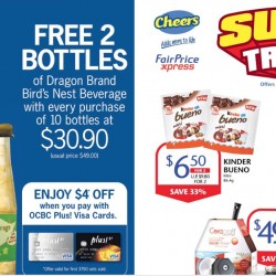 Cheers/FairPrice Xpress: Buy 10 Get 2 Free Bird's Nest Beverage at $30.90 (UP: $49)