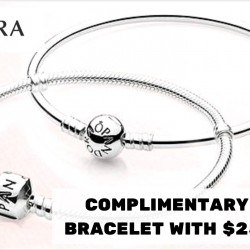 Pandora: Complimentary Silver Bracelet with $250 Spend