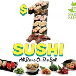 Sakae Sushi: All Items on Sushi Belt for Only $1 Each!