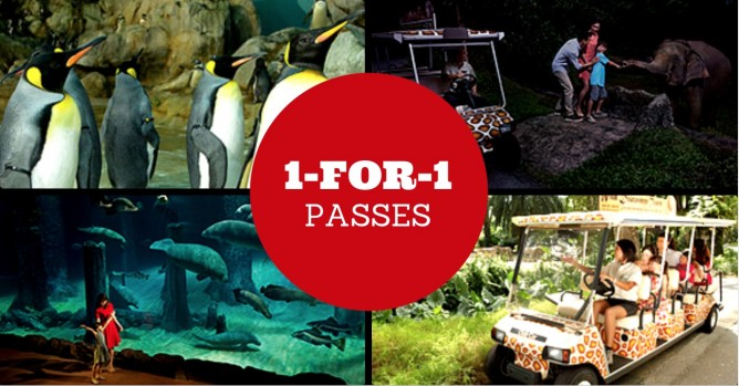 Redeem 1-for-1 admission tickets to any of the four Wildlife Reserves  Singapore (WRS) Parks - Jurong Bird Park, Night Safari, River Safari or Singapore  Zoo ...