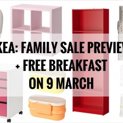 IKEA: Family Sale Preview + Free Breakfast on 9 March