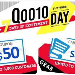 Qoo10: 7 Days of Excitement - IT Fair Today & Daily Up to $50 Cart Coupons