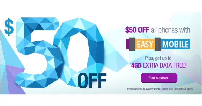 Singtel: Easy Mobile Plan Promotion - $50 OFF All Phones with Promo