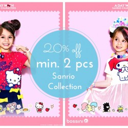 Bossini: 20% OFF min. 2 pcs from Sanrio Collection