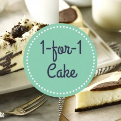 Starbucks: 1-for-1 Cake Promotion (Cookie Crumble Cheesecake or Brown Cow Cheesecake)