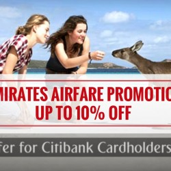 Citibank: Emirates Airfare promotion Up to 10% OFF to Melbourne, London, Paris, New York and more