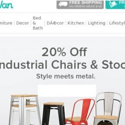 HipVan: Coupon Code for 20% OFF Industrial Chairs & Stools