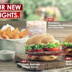 McDonald's: New Food Items - Beef Burgers and Potato Wedges!