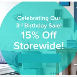 HipVan: 3rd Birthday Sale Promo Code for 15% OFF Storewide