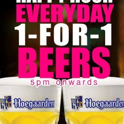 Lenas @ Orchard Gatèway : 1-for-1 beers on Happy Hours