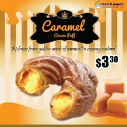 Beard Papa Singapore: flavour of the month - Caramel at S$3.3 only