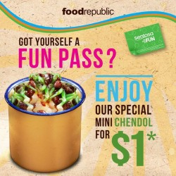 Food Republic: $1 Chendol Special Promotion @ Sentosa