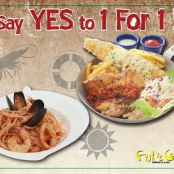 Fish & Co. Singapore: 1 for 1 promotion on Tuesdays @ East Coast Outlet