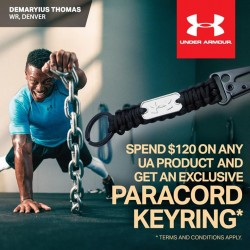 Royal Sporting House Singapore: Free UA Paracord Keyring --- with a min. spend of $120 on UA product