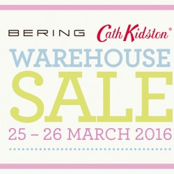BERING: BERING warehouse sale happening