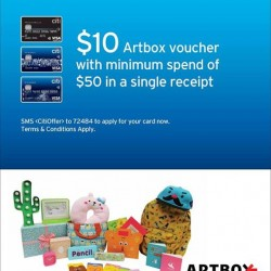 Artbox Singapore: Citibank Card Member Special Promotion --- Get $10 Artbox voucher when you spend $50 with a Citibank credit card!