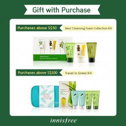 Innisfree Singapore: Free a Best Cleansing Foam Collection Kit with min. spending of S$50