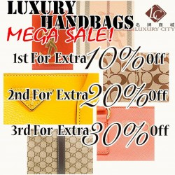 Luxury City: March Mega Promotion --- branded handbags, perfumes, cosmetics Mar sales happens at Chinatown Point Level 1 atrium