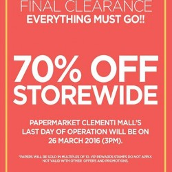 Papermarket: final clearance at PaperMarket Clementi Mall