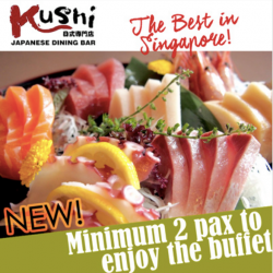 Kushi Dining Bar: special deal at $39.90 nett for our Classic Buffet