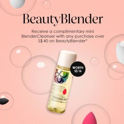 SEPHORA Singapore: Online exclusive --- Receive a complimentary mini BlenderCleanser with any purchase over S$40 on BeautyBlender* online, while stocks last! Shop now // http://
