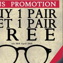 5b25018b9c Spectacle Hut  Lens Promotion Buy 1 Pair Get 1 Pair Free