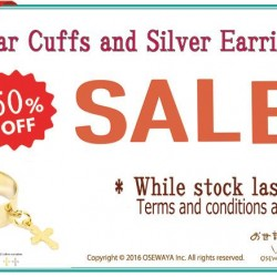 Osewaya: 50% OFF Ear Cuffs & Silver Earrings promotion