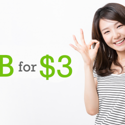 StarHub: Feel Three-rrific with 3GB of extra data at just $3/month (U.P $6)!
