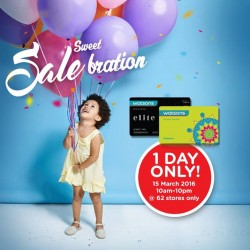 Watsons Singapore: members' only preview sale-bration