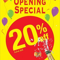 GIORDANO Singapore: Waterway Point Opening Promotion -- 20% OFF Total Bill