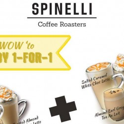 Spinelli: 1-for-1 Spring Beverage from 2.30pm to 4.30pm