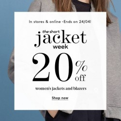 Mango: women's jackets and blazers promotion --- 20% OFF