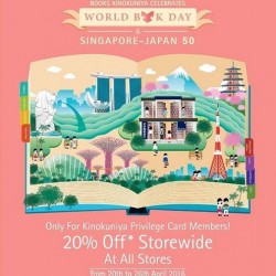 Kinokuniya: 20% OFF Storewide for Privilege Card members