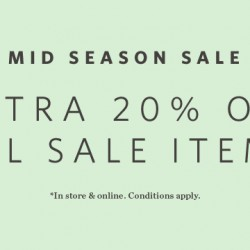 Esprit: Mid Season Sale - Extra 20% OFF All Sale Items