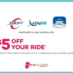 ComfortDelGro: Coupon Code for $5 OFF Your Taxi Fare!
